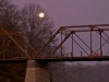 full moon, new bridge