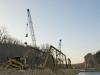bridge, sandbar, cranes
