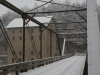Mill, bridge, snow