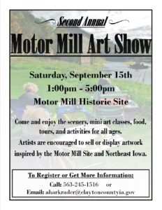 2nd Annual Motor Mill Art Show
