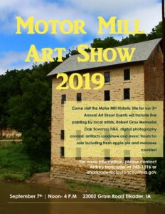 2019 Motor Mill Art Show on September 7th