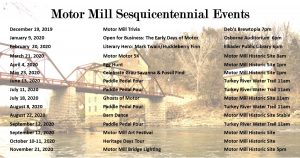 Celebrate the Motor Mill Sesquicentennial with a year full of special events!
