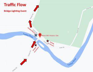 Traffic Flow for Bridge Lighting Drive Through Event